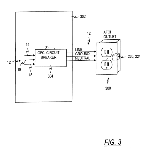 small resolution of circuit interrupter device google patents on wiring a leviton gfci gfci receptacle google patents on wiring 2 gfci outlets in series