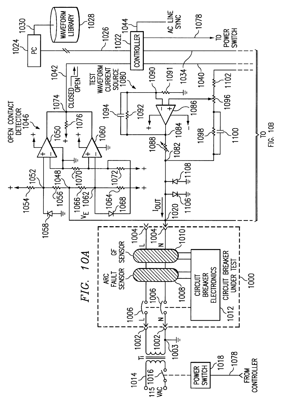 medium resolution of patent us6426632 method and apparatus for testing an residential electrical wiring diagrams afci circuit breaker wiring