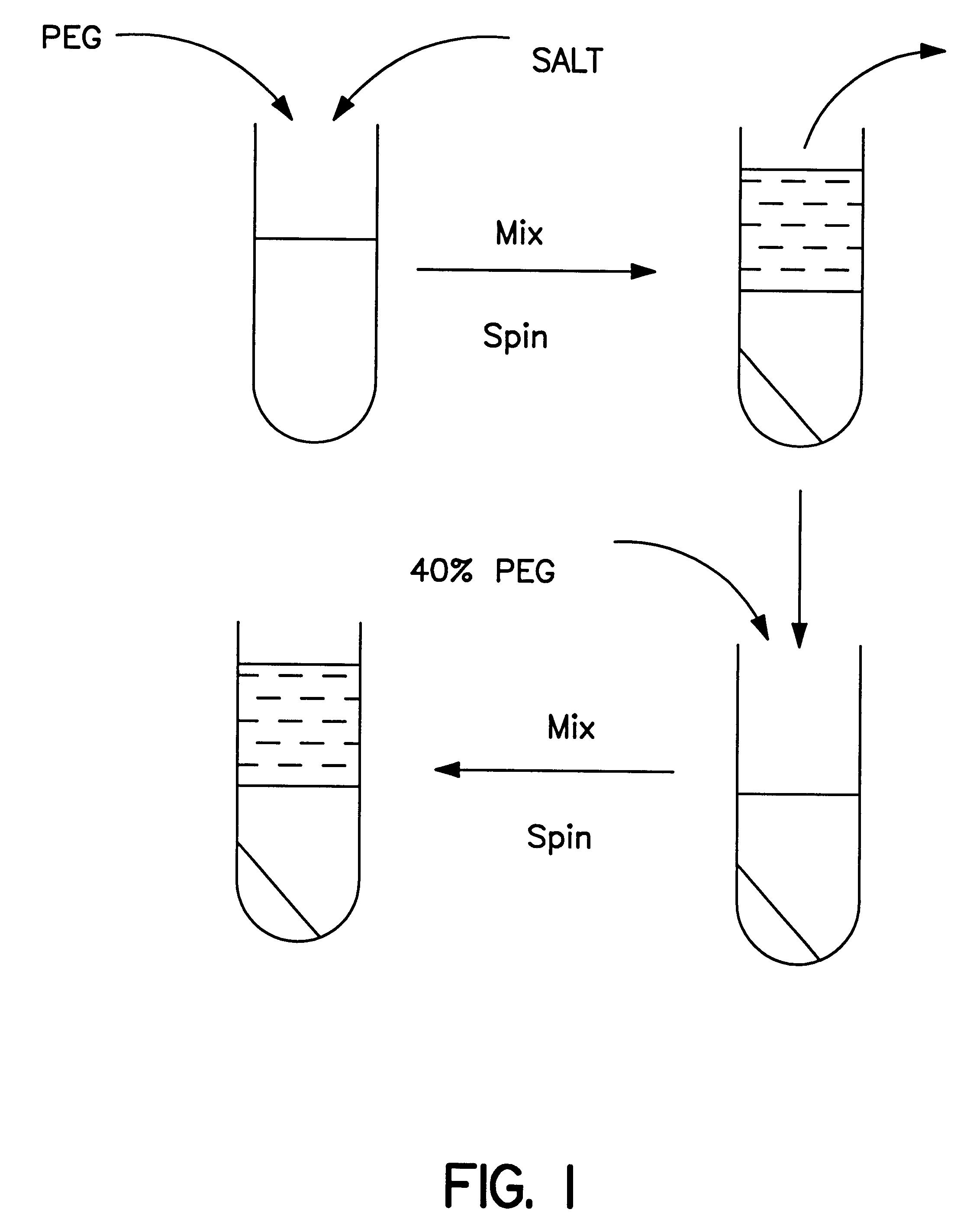 polyethylene phase diagram nissan navara d40 headlight wiring patent us6437101 methods for protein purification using