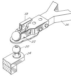 brevet us6481740 ball and socket trailer hitch assembly google brevets [ 2453 x 2383 Pixel ]