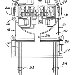 13 Terminal Meter Socket Wiring Diagram Uml Of Library Management System Patent Us6488535 Adapter With Connections