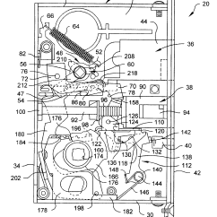 Mortise Lock Parts Diagram Russian Lace Crochet Scarf Patent Us6578888 With Automatic Deadbolt