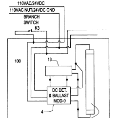 Tridonic Electronic Ballast Wiring Diagram Msd Ignition 6al Patent Us6628083 Central Battery Emergency Lighting