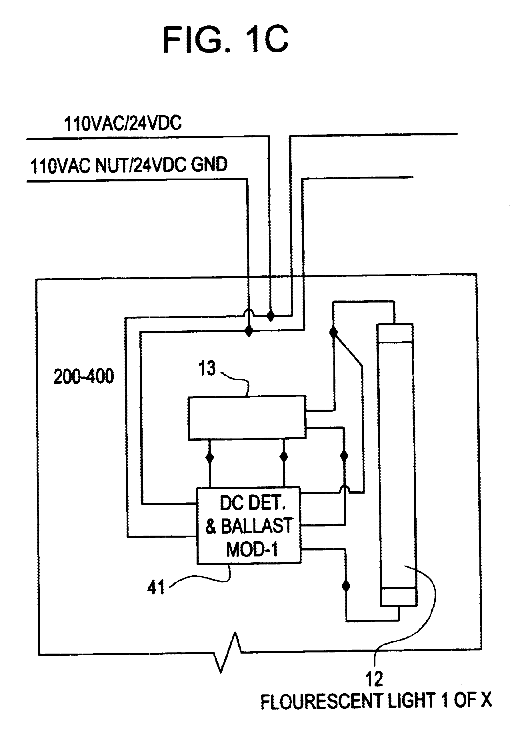 wiring diagram for emergency lighting switch to light patent us6628083 central battery
