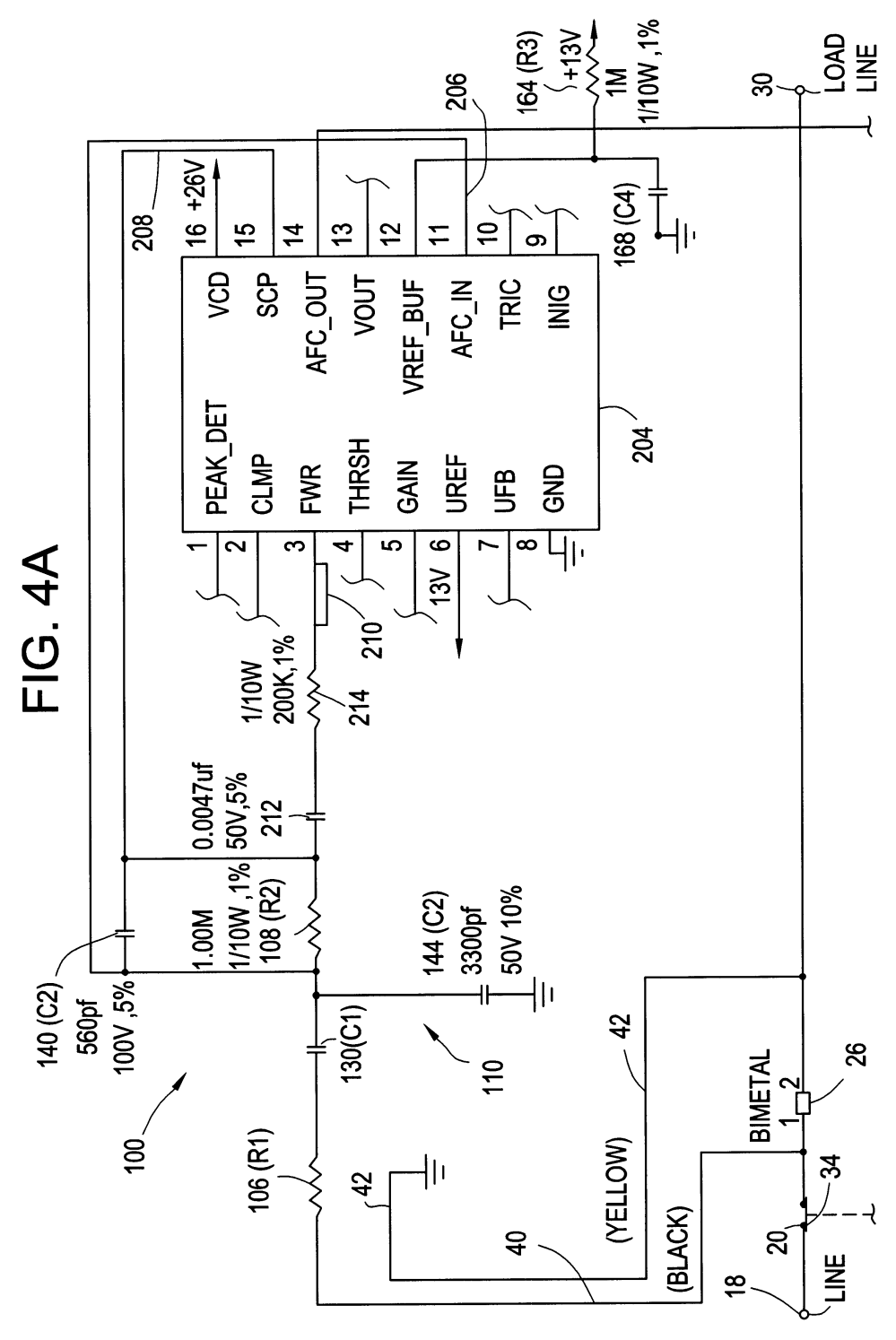 medium resolution of patent us6678137 temperature compensation circuit for an afci diagram afci receptacle wiring