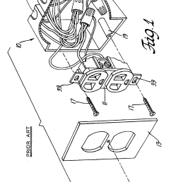 patent us6786766 electrical outlet box with secure quick connect wiring an outlet then light then switch furthermore patent us6786766 [ 2268 x 3037 Pixel ]