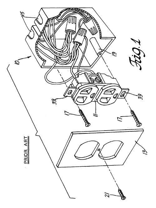 small resolution of patent us6786766 electrical outlet box with secure quick connect wiring an outlet then light then switch furthermore patent us6786766