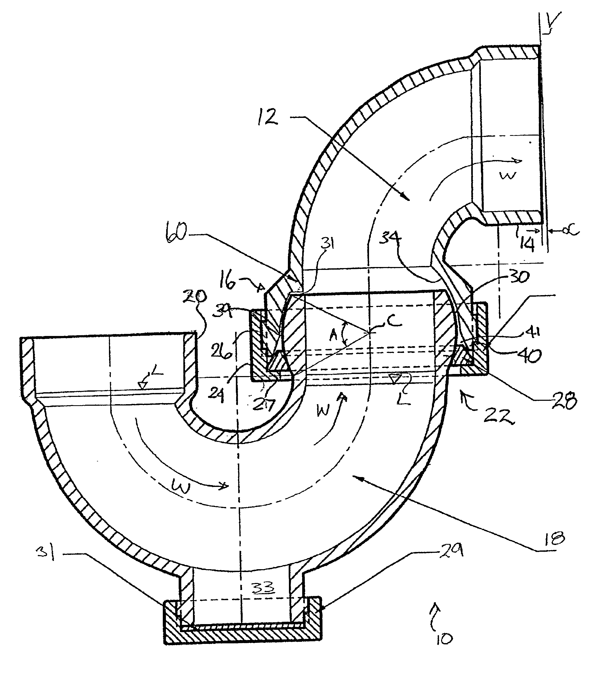 island sink vent diagram cat 6 wiring for wall plates australia patent us6859956 p trap plumbing drainage systems