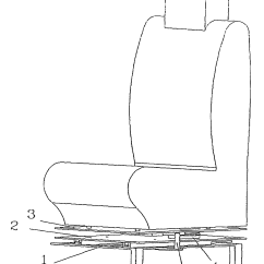 Revolving Chair Mechanism Collapsible High Patent Us6981746 Rotating Car Seat Google