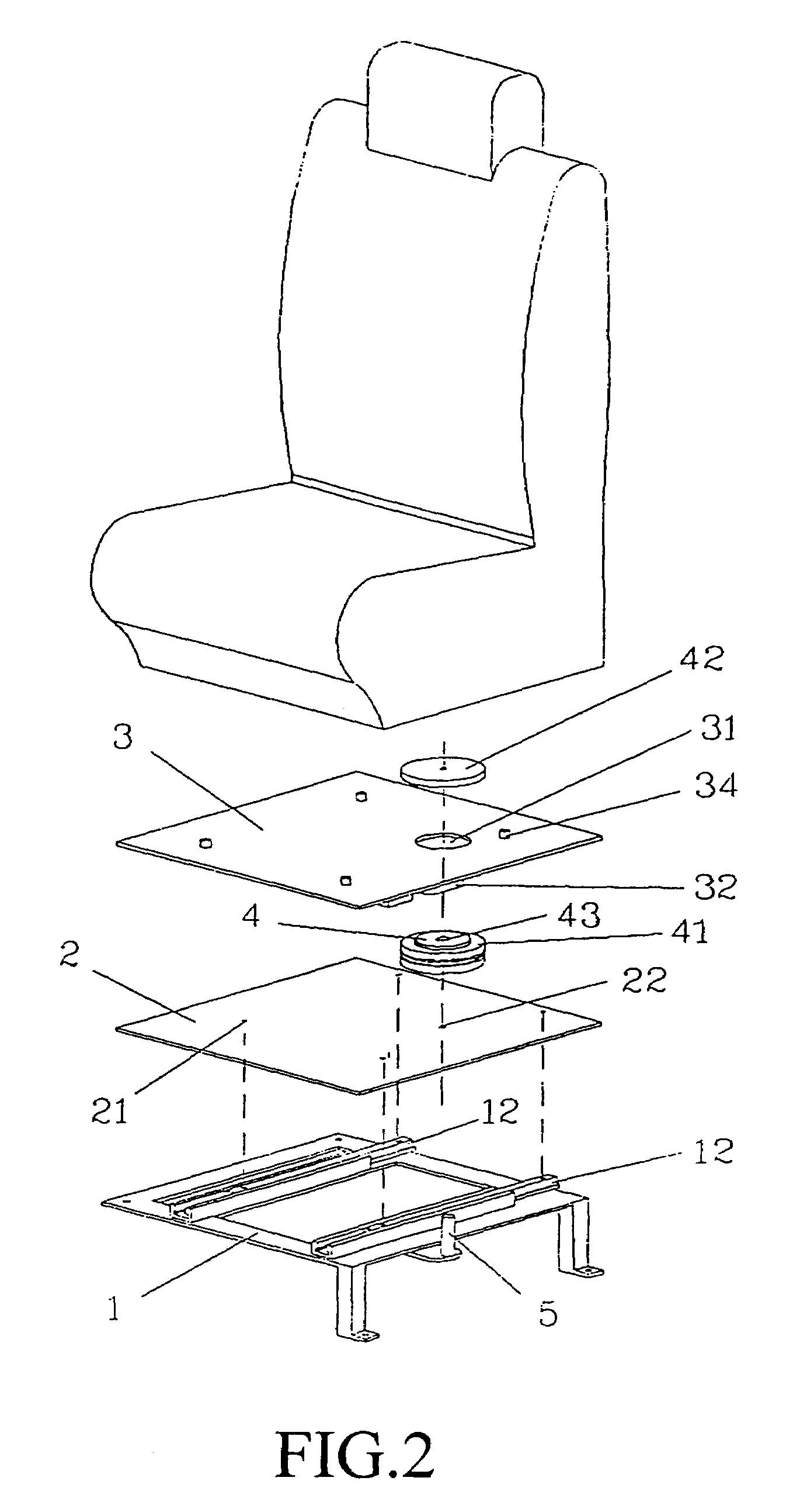 revolving chair mechanism red office without wheels patent us6981746 rotating car seat google