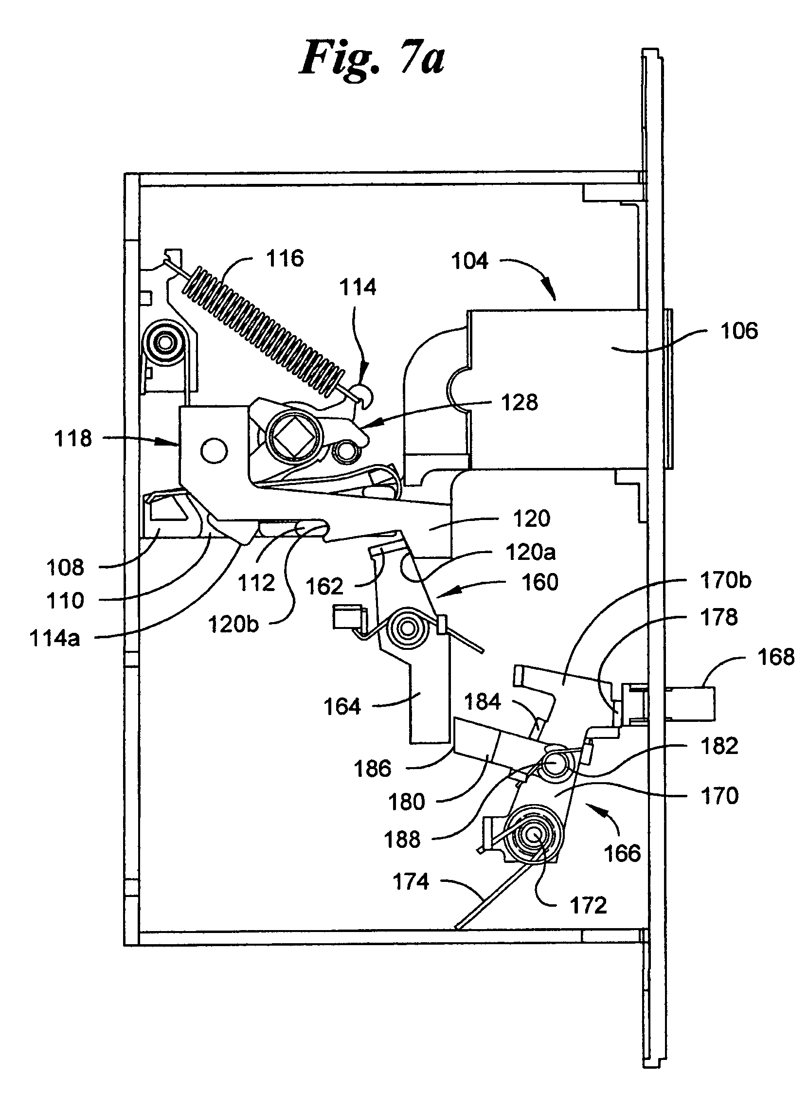 mortise lock parts diagram wiring telstra wall socket patent us7007985 automatic deadbolt mechanism for a