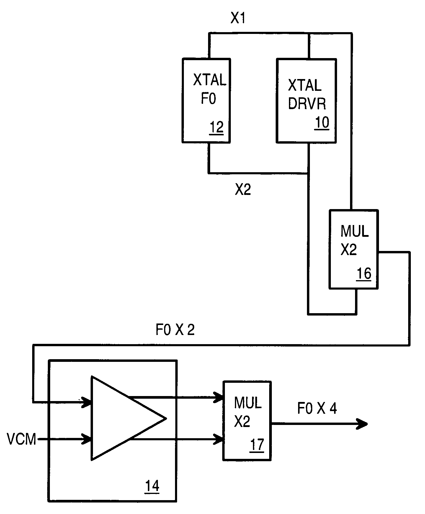 circuit diagram of non inverting amplifier 2004 pt cruiser speaker wiring patent us7053725 4x crystal frequency multiplier with op