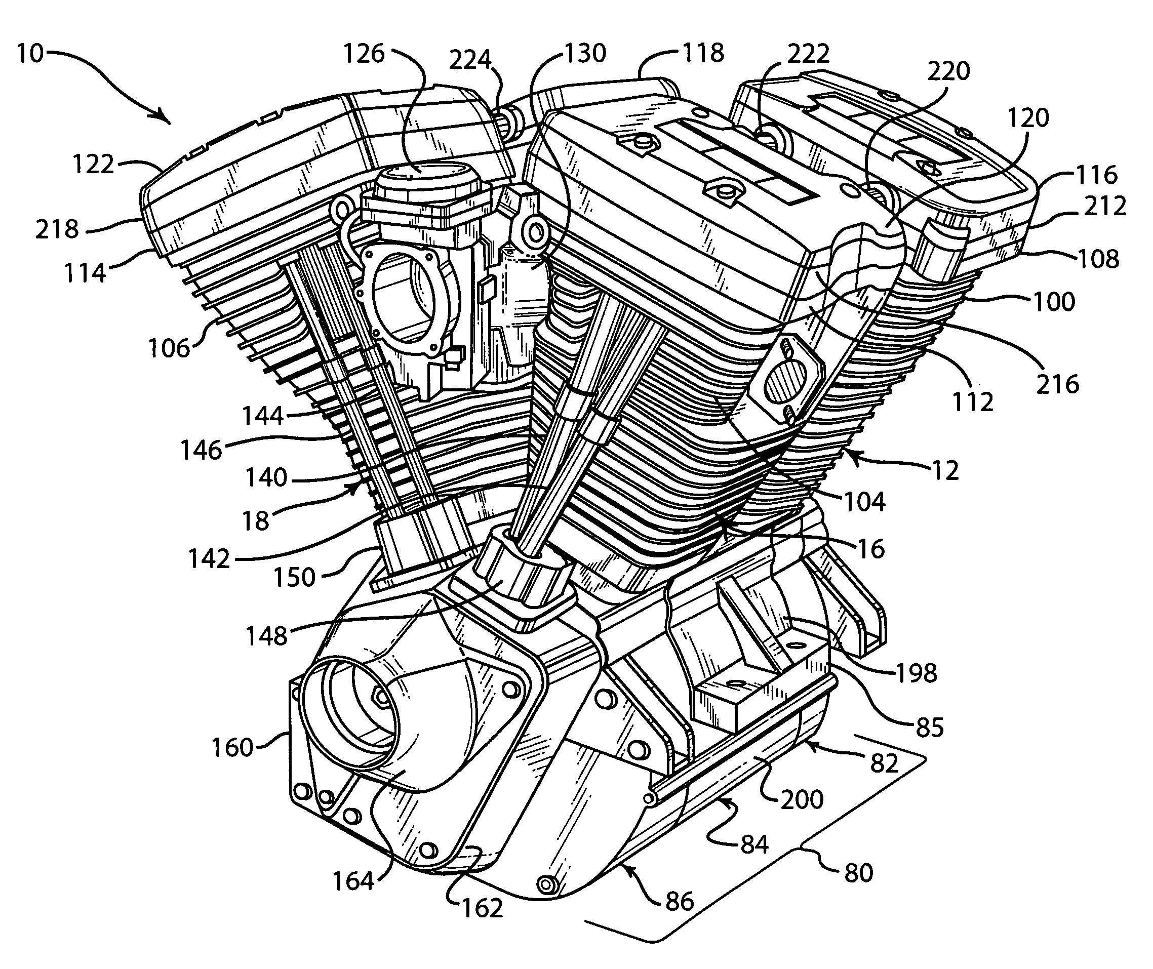 V Twin Motorcycle Engine Diagram