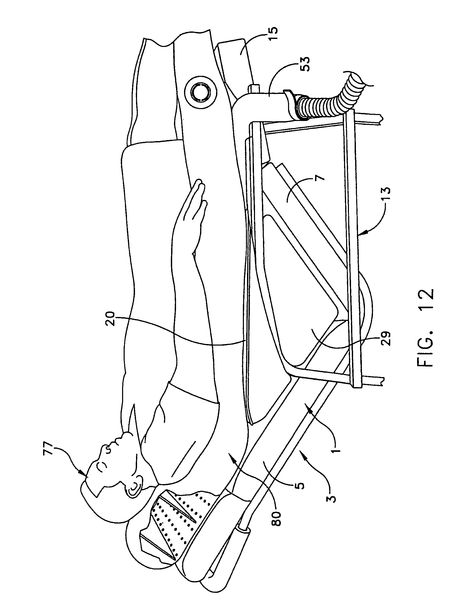 inflatable lifting chair leather arm chairs patent us7168115 cushion and method for