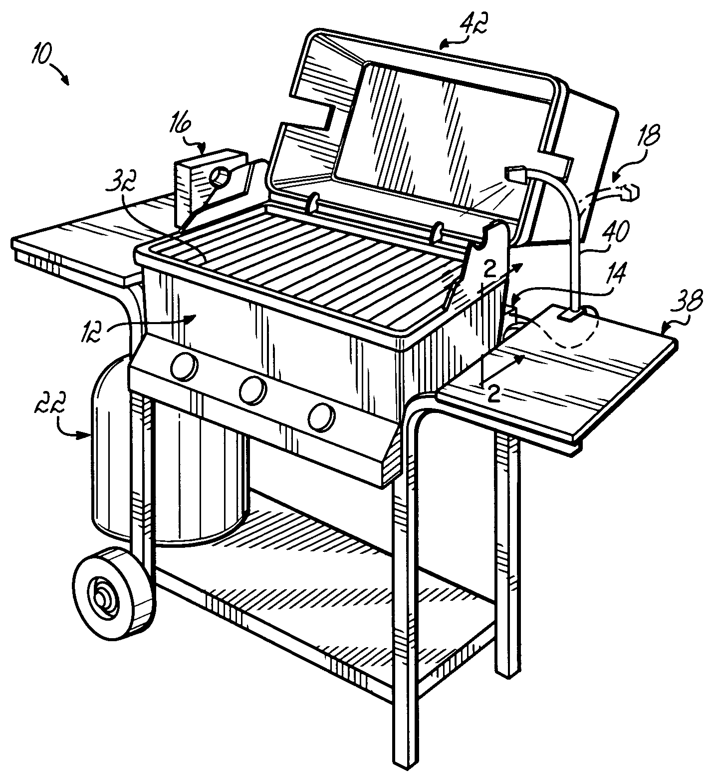 how a smoker works diagram process flow examples patent us7168363 barbeque grill system google patents
