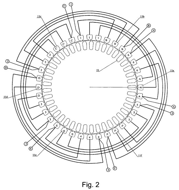 motor rewinding diagram