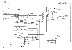 Patent US7245475  Wide input voltage range relay drive
