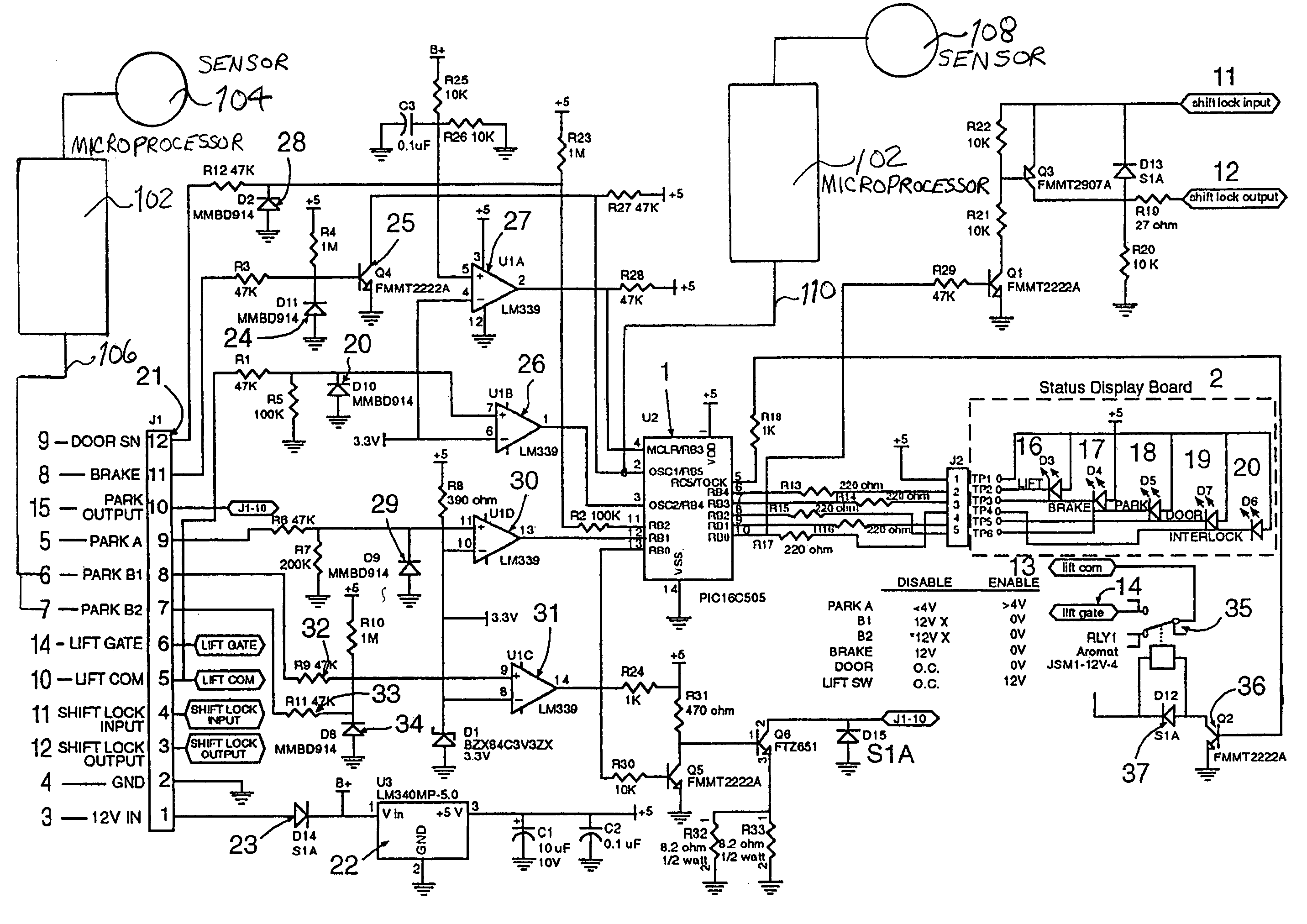 elevator power wiring schematic