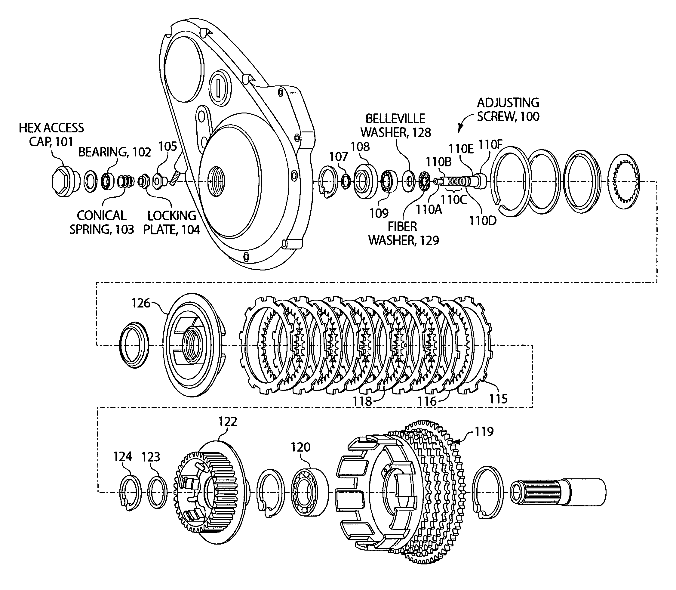 Harley Davidson Motorcycles Clutch Parts Diagram. Diagram