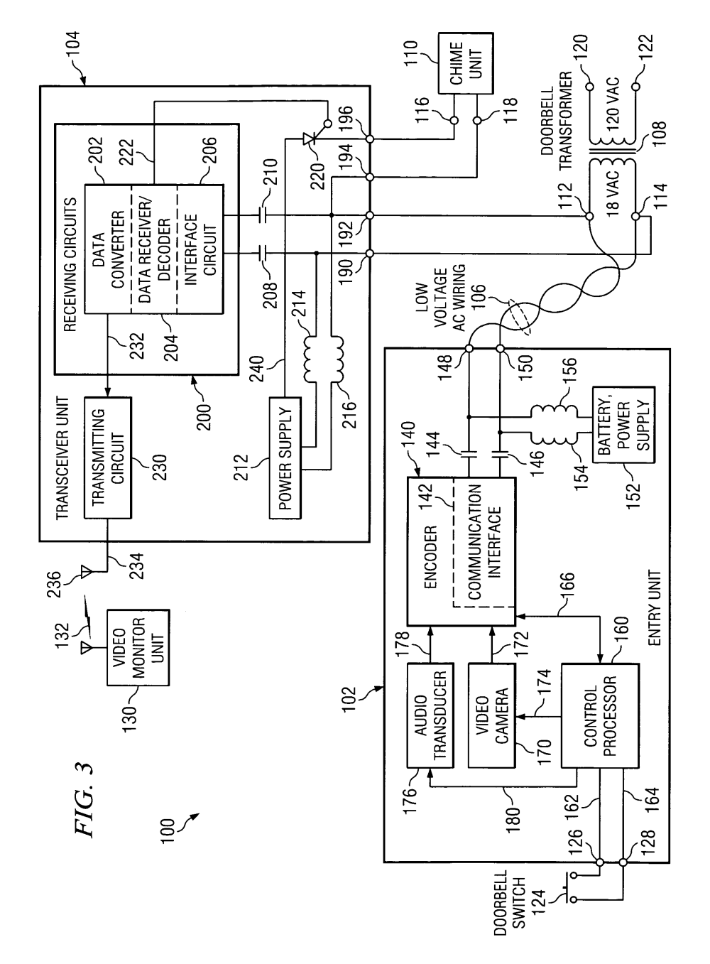 medium resolution of  us07417535 20080826 d00002 patent us7417535 apparatus and method for converting a low typical doorbell wiring diagram