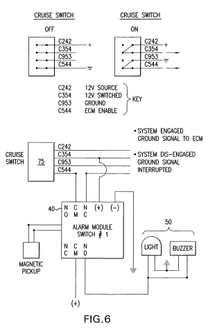 Patent US7427924  System and method for monitoring driver