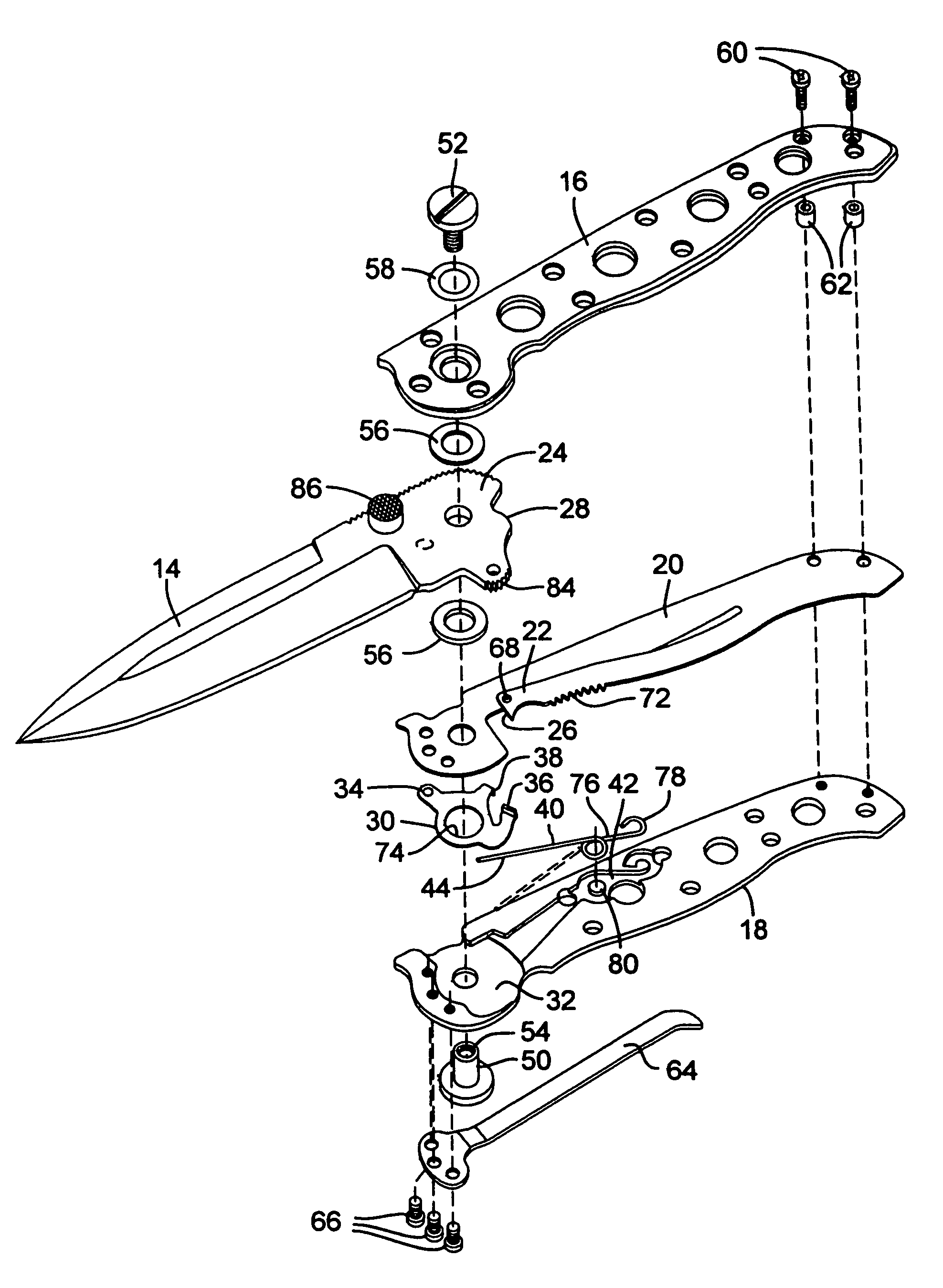 parts of a pocket knife diagram pull switch wiring uk schematic folding elsavadorla