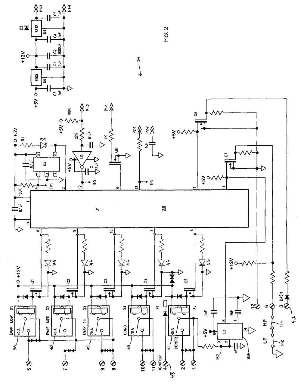 medium resolution of patente us7475559 electronic vehicle climate control car air conditioning wiring diagram pdf car air conditioning wiring diagram