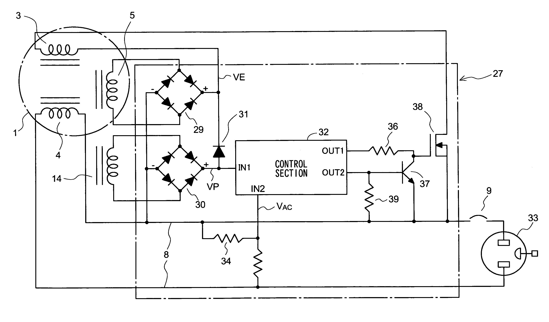 generator avr circuit diagram 2003 honda civic headlight wiring patent us7569942 output voltage controller of engine
