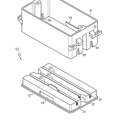 patent us7572976 quick connect electrical box google patents junction box terminal google patents on house wiring junction box [ 1777 x 2354 Pixel ]