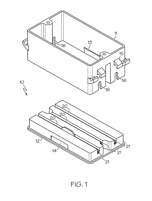 small resolution of patent us7572976 quick connect electrical box google patents junction box terminal google patents on house wiring junction box