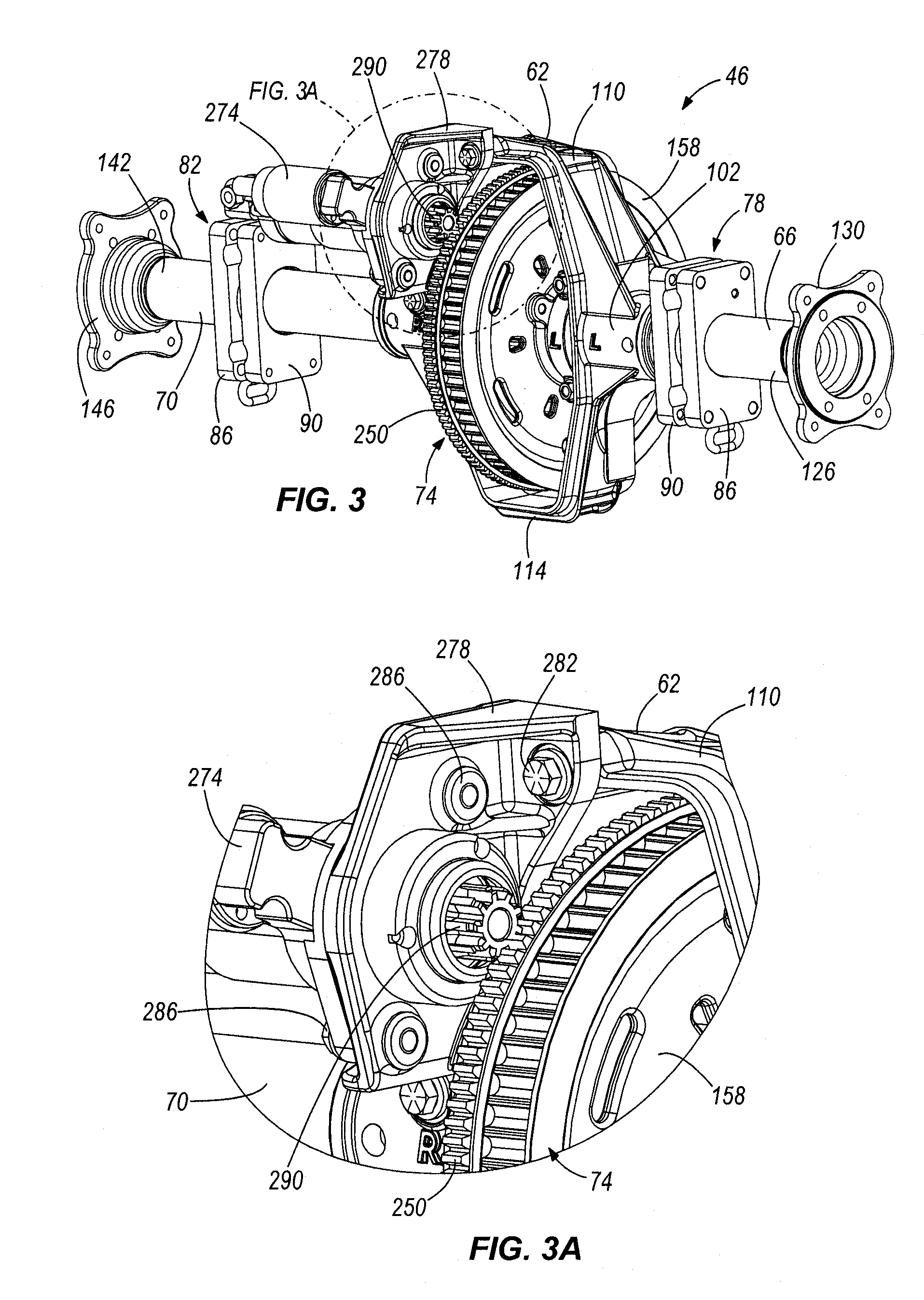 Three Wheel Axle