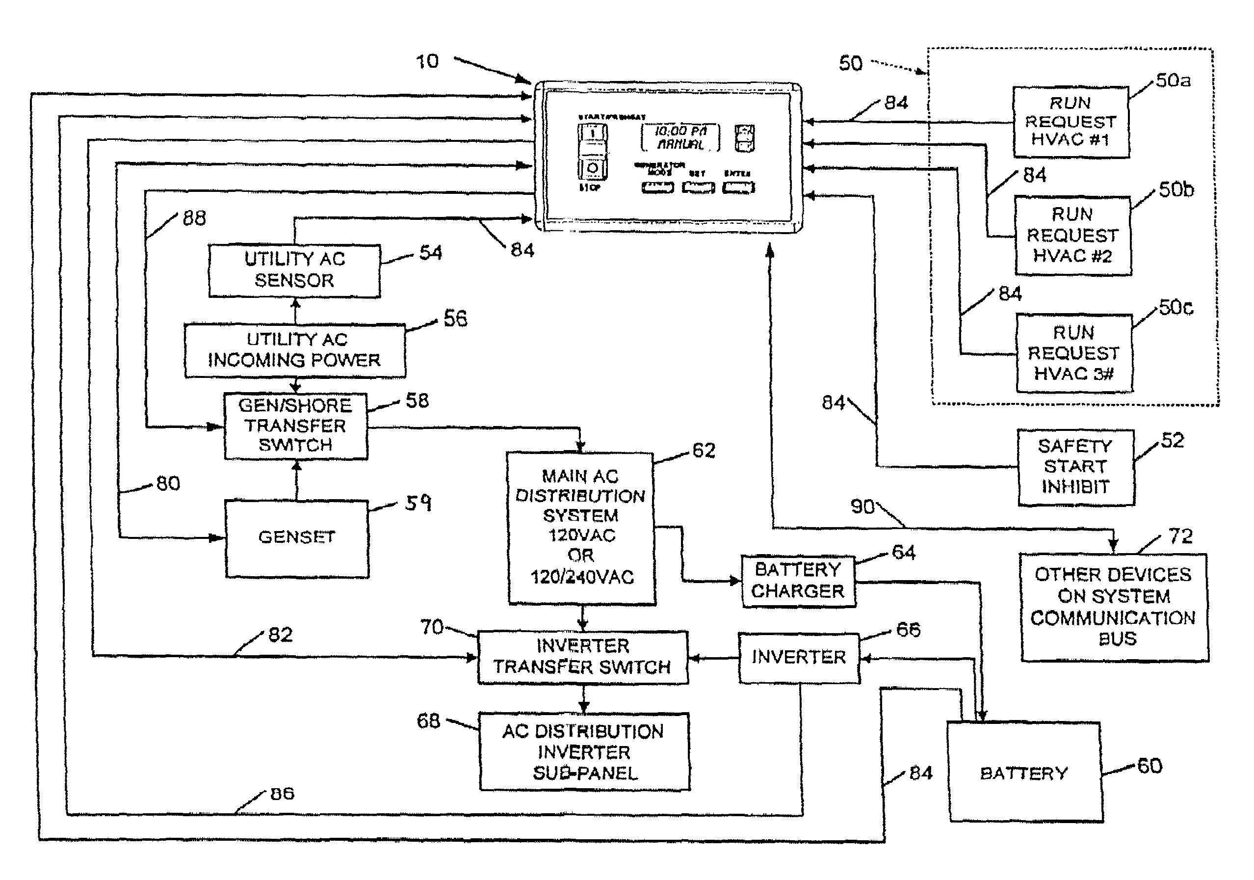 3 battery wiring diagram rv car radio antenna patent us7692409 - generator controller google patents