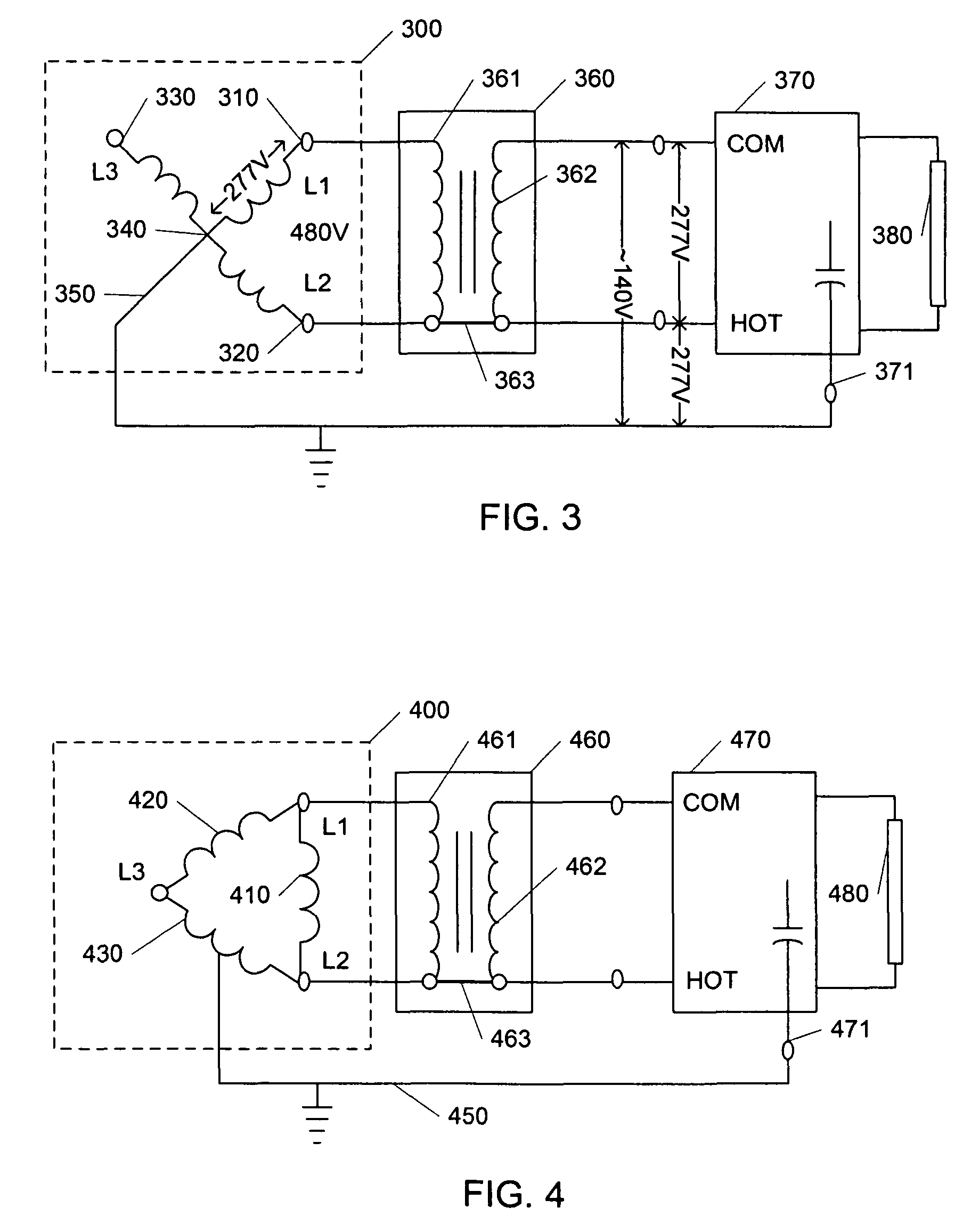step down transformer diagram contactor wiring diagrams lighting patent us7746003 method and apparatus