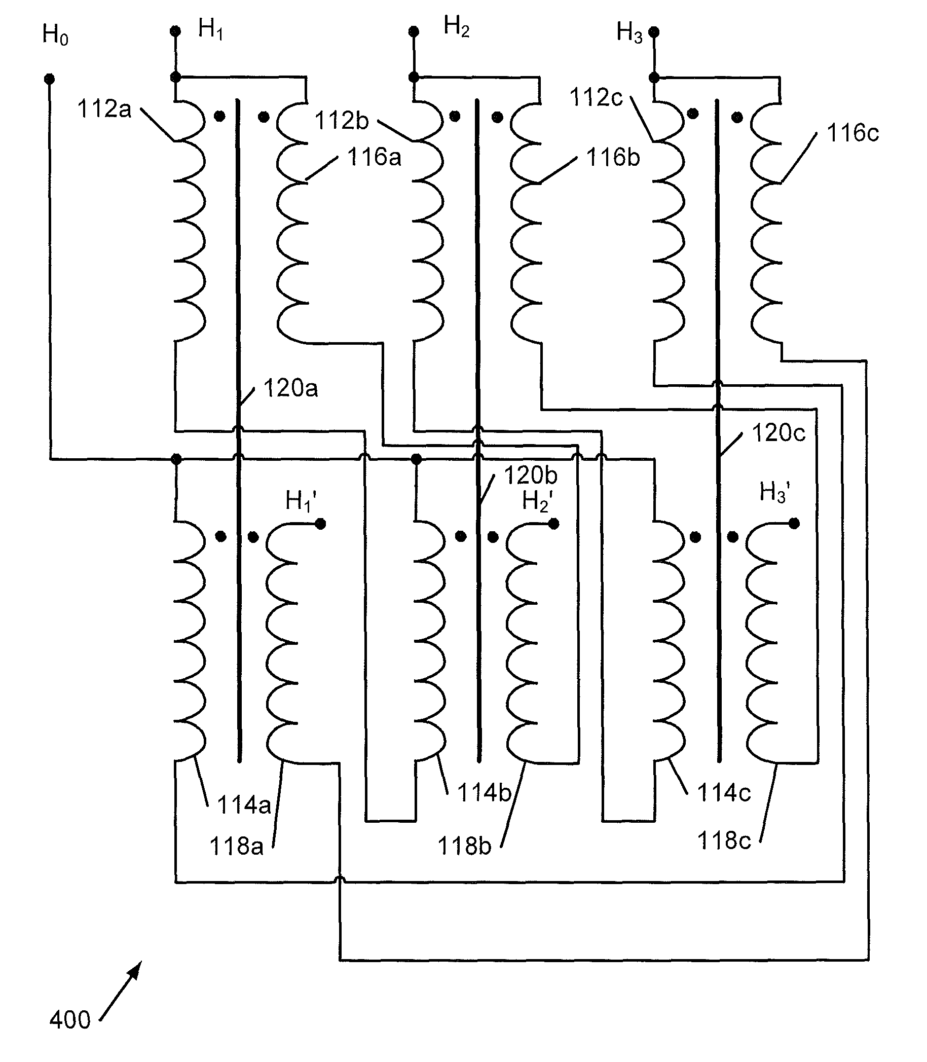 Patent US7969265 Zigzag Autotransformer Apparatus And Methods