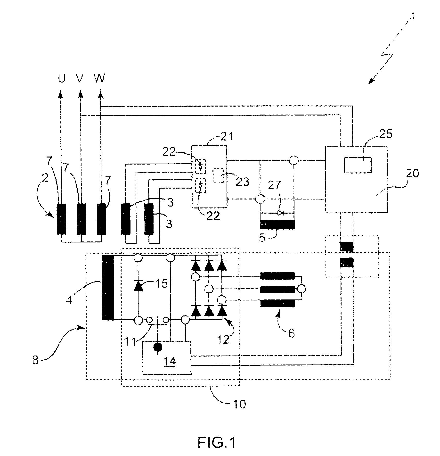 3 phase generator alternator wiring diagram corrosion cell patent us8013578 google patents