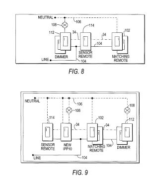 Patent US8018166  Lighting control system and three way