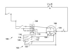 Patent US8022657  Washing machine wiring to reduce