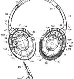 us08031878 20111004 d00000 patent us8031878 electronic interfacing with a head mounted bose headphone bose headphone wiring diagram  [ 1913 x 2679 Pixel ]
