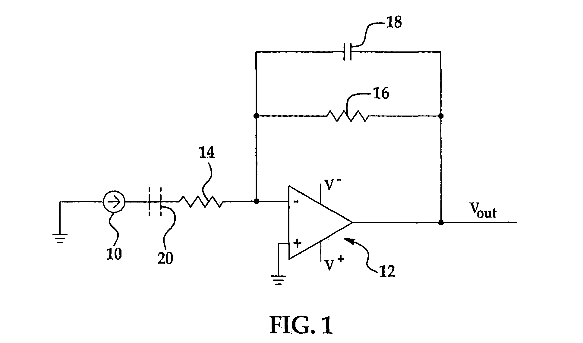 circuit diagram of non inverting amplifier 1965 ford falcon wiring patent us8054085 programmable gain trans impedance