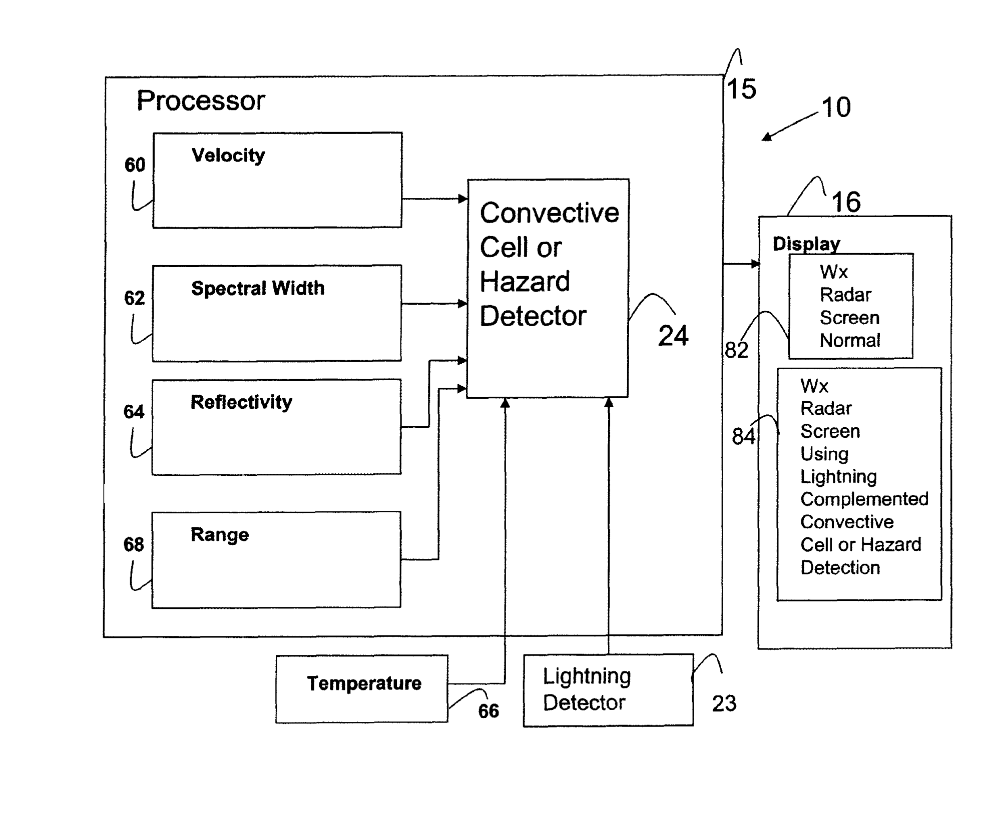 hight resolution of patent us8089391 weather radar system and method using data from a figure 1 lightning sensor unit schematic expanded
