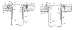 Patent US8099801  Closet flange system for existing