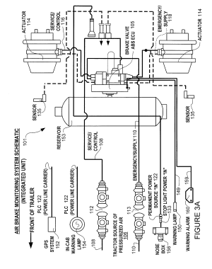 Patent US8204668  Brake monitoring system  Google Patents