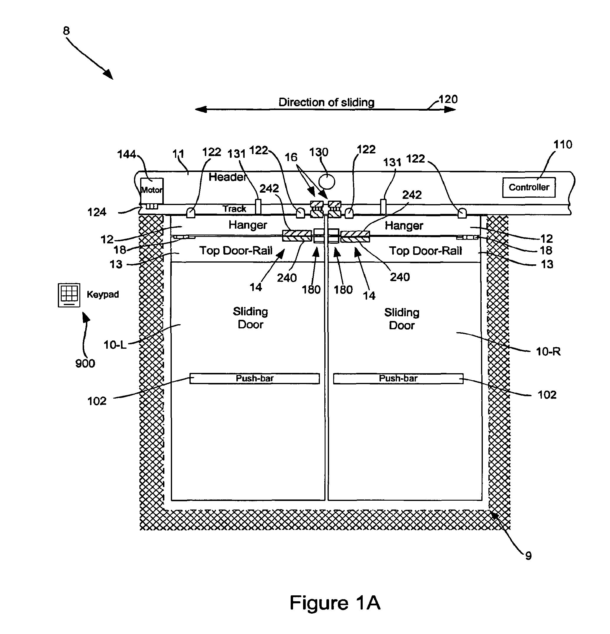 automatic door lock wiring diagram honda airbag patent us8205387 delayed egress sliding and method