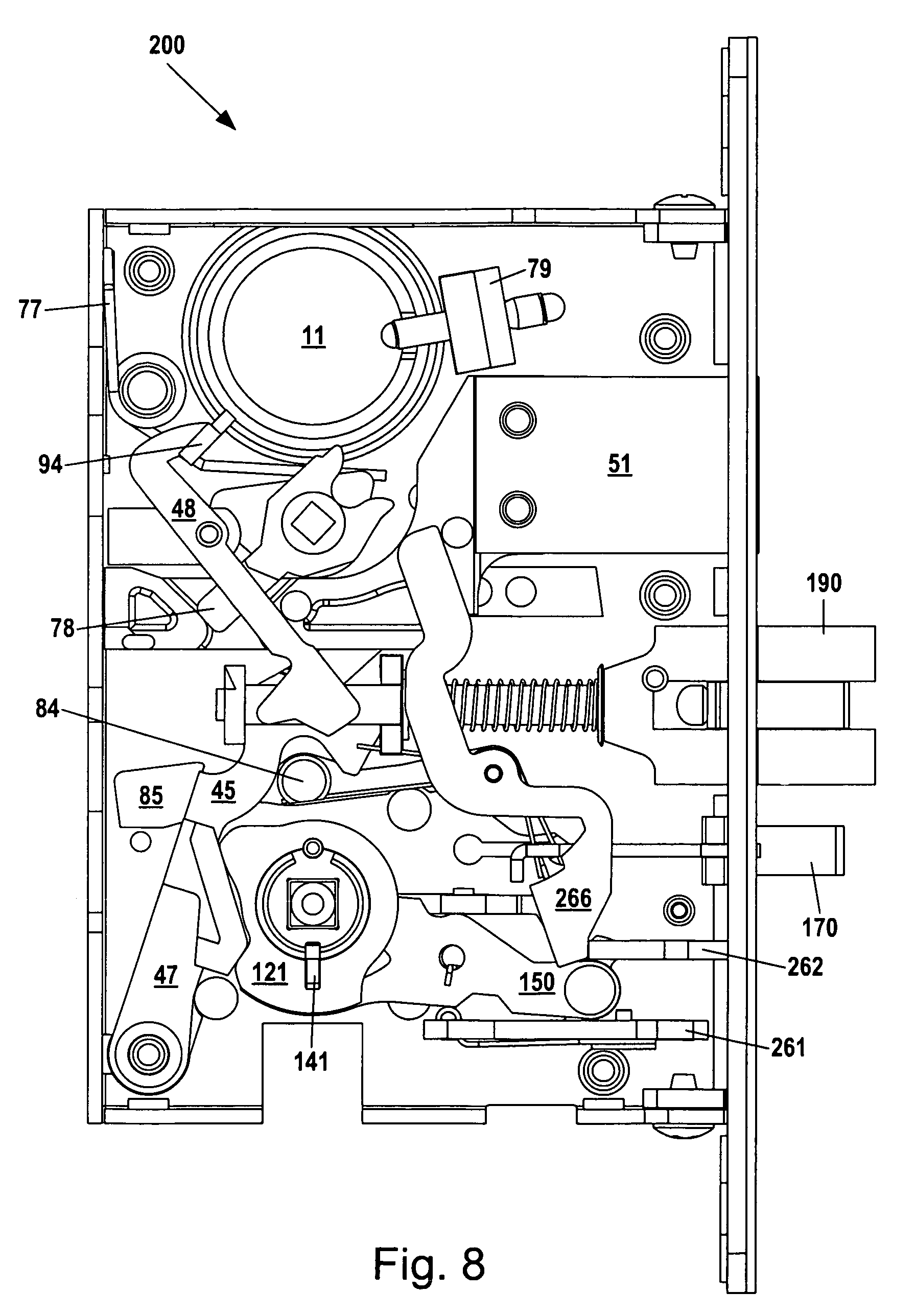 mortise lock parts diagram coil gun wiring patent us8292336 assembly google patents