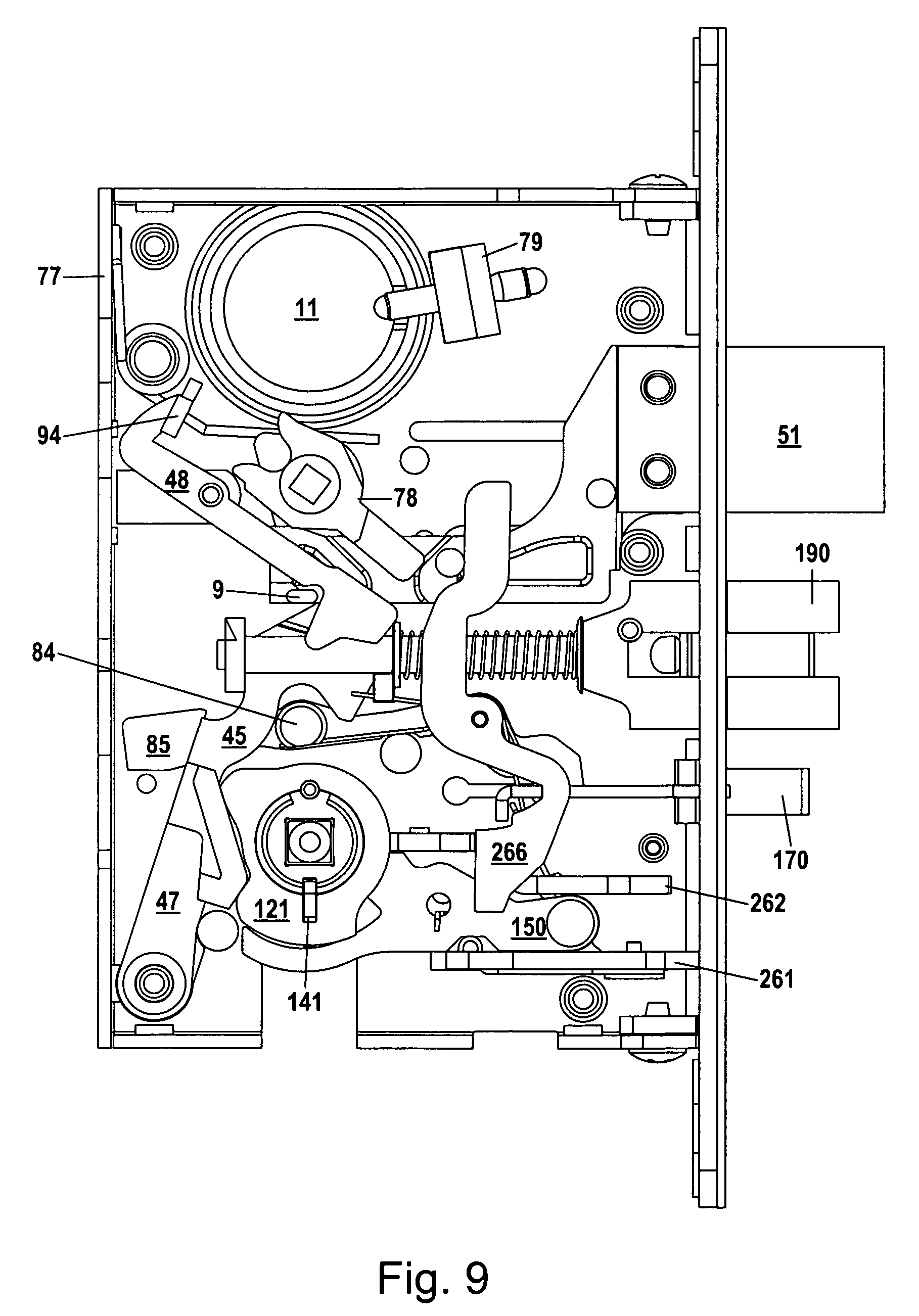mortise lock parts diagram fast xfi 2 0 wiring patent us8292336 assembly google patents