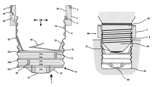 Patent US8328582  Shortened adapter for light bulb