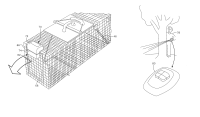 Patent US8359783 - Remote-controlled cage trap door ...