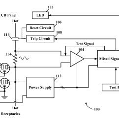 patente us8373570 arc fault detection method and afci receptacle afci tester [ 2165 x 1662 Pixel ]