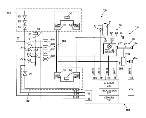 small resolution of patent us8378834 kitchen hood assembly with fire suppression