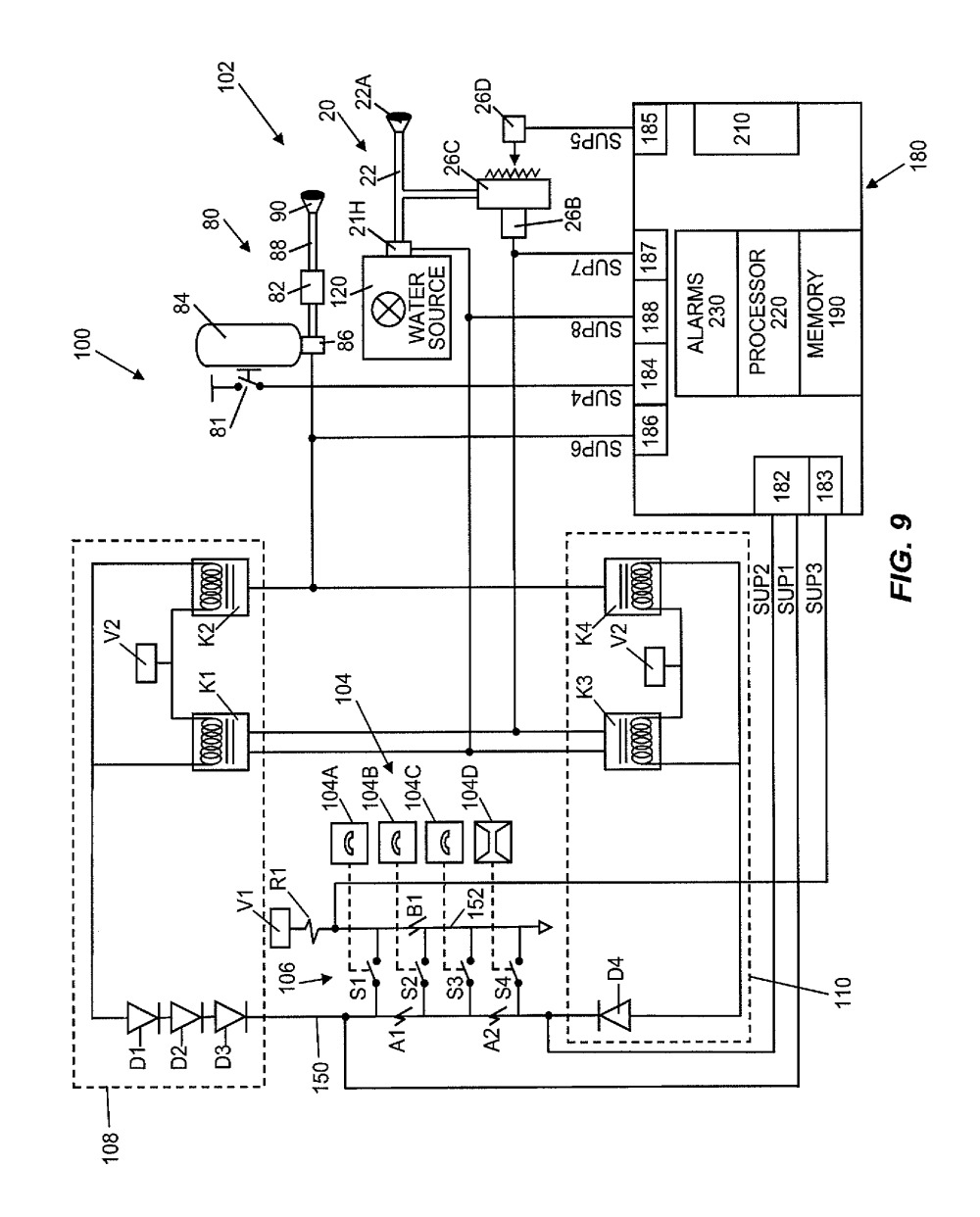 medium resolution of  us08378834 20130219 d00010 patent us8378834 kitchen hood assembly with fire suppression at cita asia ansul system wiring diagram